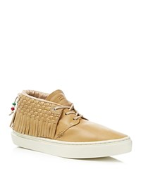 Clear Weather One O One Leon Bronceado Fringe Lace Up Sneakers Tan