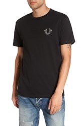 True Religion Men's Silver Buddha T Shirt Black
