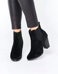 New Look Suede Chelsea Boot Black