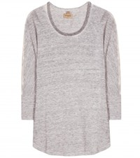 True Religion Embellished Linen Top Grey