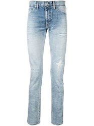 Visvim Distressed Skinny Jeans Blue
