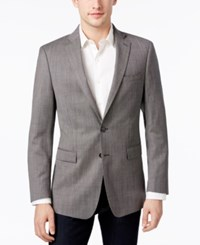 Calvin Klein Men's Slim Fit Black White Micro Check Sport Coat Black White