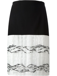 Prabal Gurung Jacquard Skirt Black