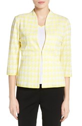 Ming Wang Women's Houndstooth Knit Jacket