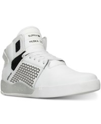 Supra Men's Skytop Iii High Top Casual Sneakers From Finish Line White Black White