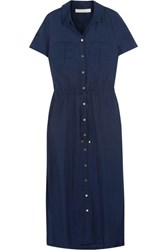 Heidi Klein Hamptons Voile Shirt Dress Midnight Blue