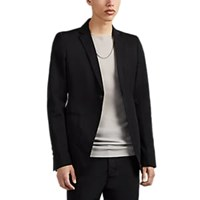 Rick Owens Tech Faille One Button Sportcoat Black