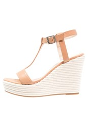 Unisa Marfa Wedge Sandals Natural Brown