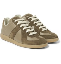 Maison Martin Margiela Replica Suede And Leather Sneakers Gray