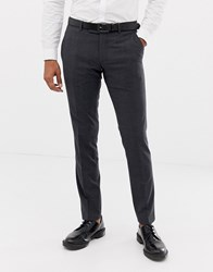 Esprit Slim Fit Commuter Suit Trousers In Grey Check