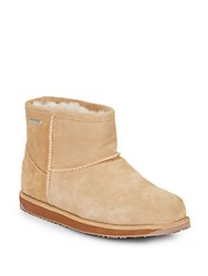 Emu Paterson Shearling Lined Suede Ankle Boots Chestnut
