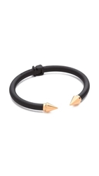 Vita Fede Mini Titan Two Tone Bracelet Matte Black Rose Gold