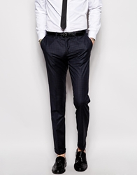 Sisley Check Suit Trousers In Slim Fit Navycheck941