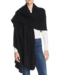 Bloomingdale's C By Cashmere Ruffle Wrap Black