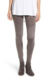 Women's Bp. Ribbed Moto Leggings Grey Kitten