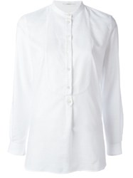 Lardini Band Collar Shirt White