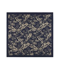 Vivienne Westwood Sketch Orb Jacquard Pocket Square Blue