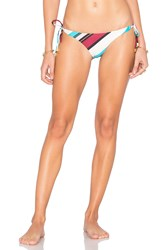 Vix Swimwear Vintage Stripe Long Tie Bikini Bottom White