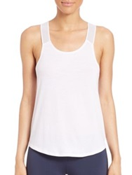 Heroine Sport Jersey Wicking Gym Tank White