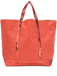 Vanessa Bruno Sequin Embellished Tote Orange