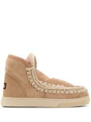 Mou Lined Interior Ankle Boots Neutrals