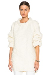 Each X Other Torsade Boxy Zig Zag Sweater In White