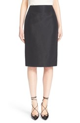 Women's Carolina Herrera Silk Pencil Skirt