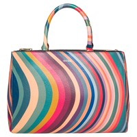 Paul Smith Leather Swirl Top Handle Tote Bag Multi