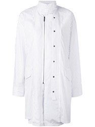 Chalayan Open Collar Long Sleeve Dress Women Cotton 40 White