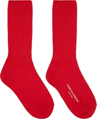 Comme Des Garcons Red Tall Socks