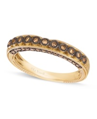 Le Vian Chocolate Diamond Wedding Band 1 4 C. T.W. In 14K Gold