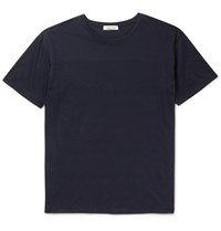 Valentino Studded Cotton Jersey T Shirt Blue