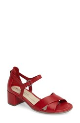 Ecco Women's Shape Block Heel Sandal Chili Red Leather
