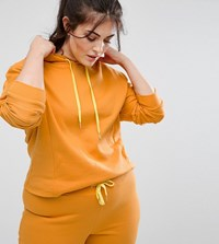 South Beach Plus Cropped Hoodie In Mustard Yellow