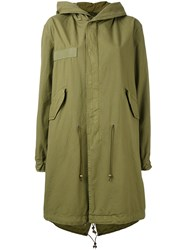 Mr And Mrs Italy Hooded Parka Coat Women Cotton Xxs Green