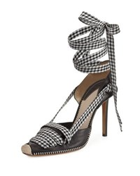 Altuzarra Gingham Ankle Wrap D'orsay Pump Black