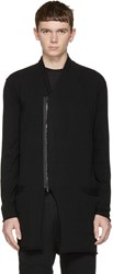 Isabel Benenato Black Zip Up Cardigan