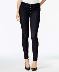 Guess 1981 Button Front Rinse Wash Skinny Jeans