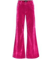 Marc Jacobs High Rise Flared Velveteen Jeans Pink