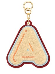Chaos A Chenille Luggage Tag Champagne