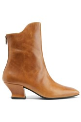 Dorateymur Han Textured Leather Ankle Boots Tan