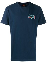 Deus Ex Machina Embroidered Logo T Shirt Blue