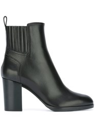 Sergio Rossi Chunky Heel Ankle Boots Black