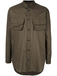 Julius Long Oversized Shirt Green