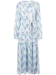 Lemlem Gigi Robe Wrap Dress Blue