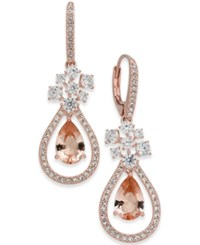 Danori Rose Gold Tone Crystal Teardrop Orbital Drop Earrings Created For Macy's