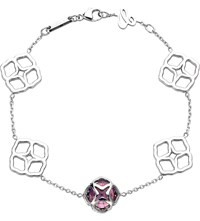 Chopard Imperiale 18Ct White Gold And Amethyst Bracelet