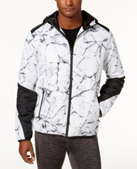 Ideology Id Men's Printed Hooded Jacket Created For Macy's Bright White