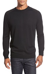 Bugatchi Merino Wool Crewneck Sweater Black