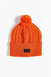 Roux Cable Bobble Beanie Orange